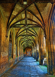 A lovely old world corridor at St.John's College