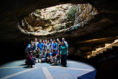 The group shot at the entrance to the caves.