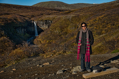 Smitha appreciates the Svartifoss landscape