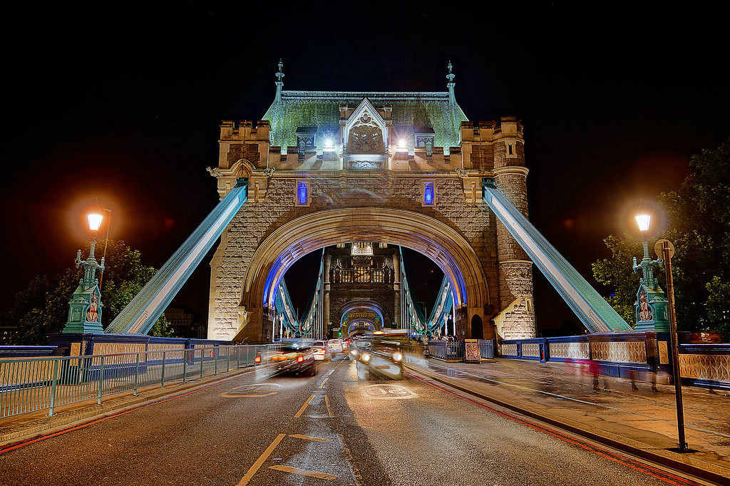 Tower Bridge, from between the traffic!