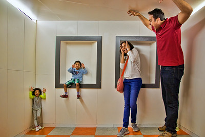 That's more like it... Charan, Harini, Vedanth and Riya act out their parts in the illusion room