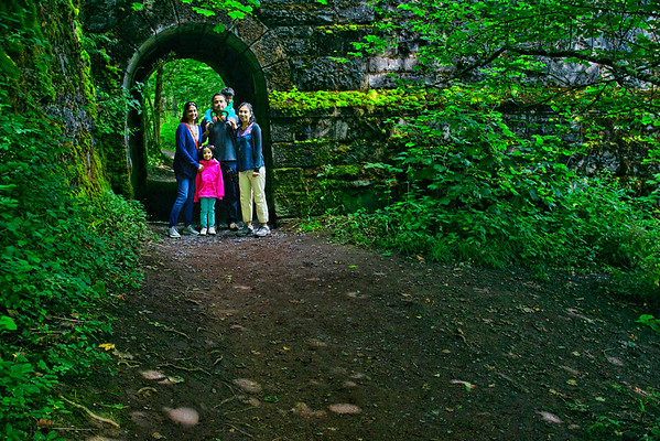 Under the train tunnel at the end of the Hermitage walk