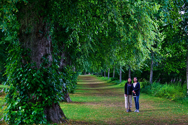 Smitha and Harini on the grounds of the Blair Castle