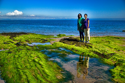 Harini and Smitha pose on the shores of North Berwick. The ocean water was surprisingly warm!